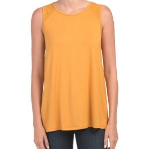 Cable & Gauge Back Mesh Top - Size Small